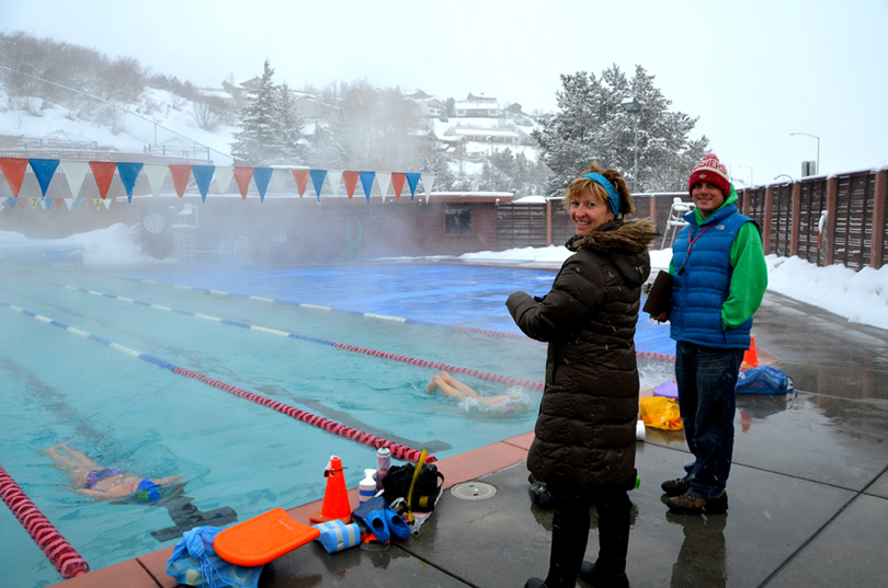 Snowy Swimmers At The Old Town Hot Springs Steamboat Magazine